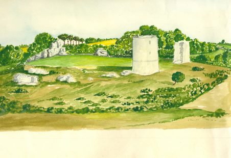 Water Colour of Hadleigh Castle
