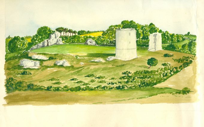 Hadleigh Castle - water colour
