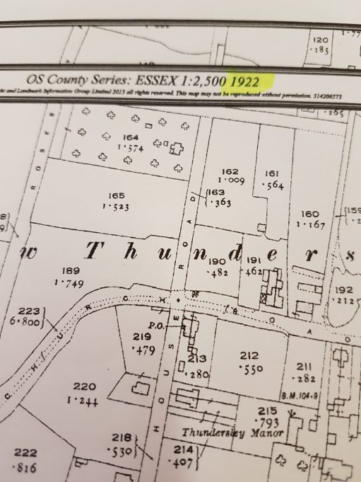 'Manor House Road' showing the large plot on the corner of Eversley Road in 1922 | OS County Series:Essex 1:2,500 1922