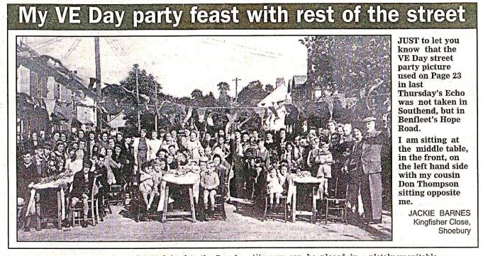 Brook Road VE Day celebrations