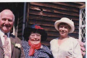 Sonia Mallia & Mr & Mrs Leadbetter at Rita & Alan's Wedding at the old Church | Mr. Robert Clements