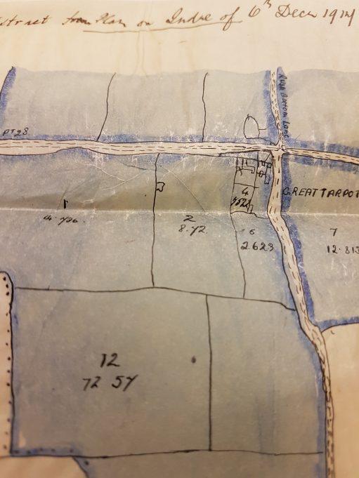 Tarpots Farm fields being split up in 1917 | Pamela-Jeanetta Bird Gaines