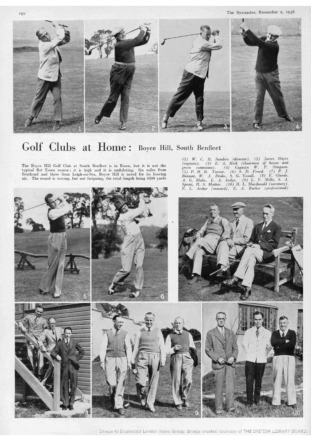 Boyce Hill Golf Club as featured in The Bystander, November 2nd 1938