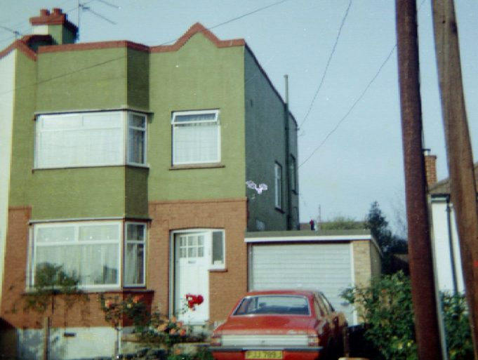 The front of 169 Oakfield Road in the mid 1970s