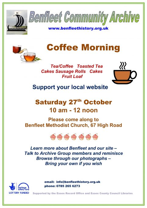 Coffee Morning - Saturday 27th October