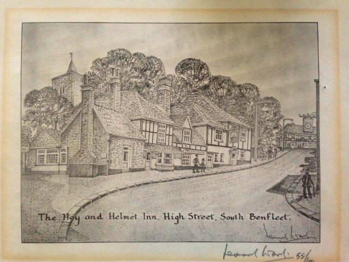 The Hoy and Helmet Inn, drawn by Leonard Ward, 55/100