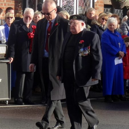 Two veterans returning from laying a wreath. | Jenny Day