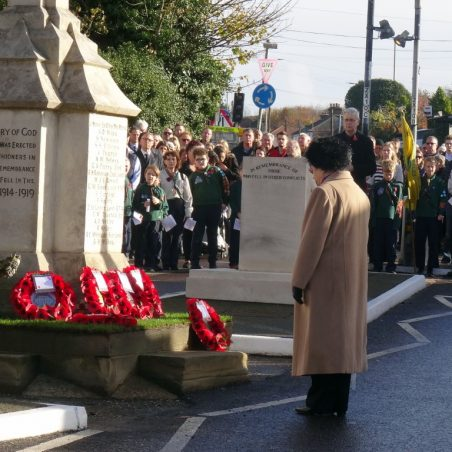 The Women's Institute lay a wreath.   Jenny Day
