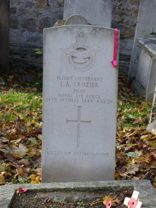 Flight Lieutenant L A Crozier a pilot in the RAF who died 14th October 1944 on active service. Age 26. | Phil Coley