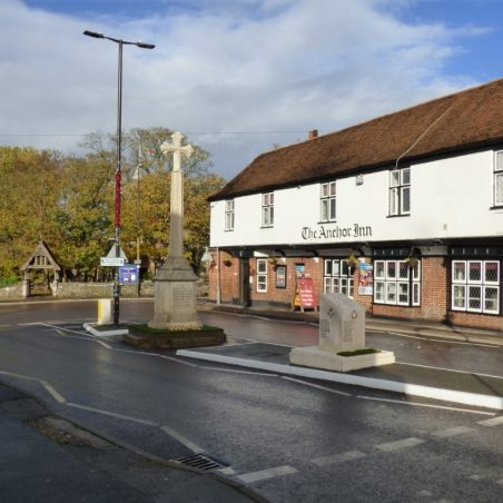 The War Memorial at 10 am on Sunday 11th November 2018.   Phil Coley