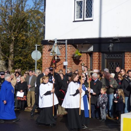 The Church procession arriving | Phil Coley