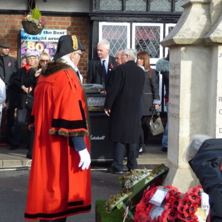 The Mayor, of Castle Point, Councillor Clive Walter, lays a wreath on behalf of the Borough.   Phil Coley
