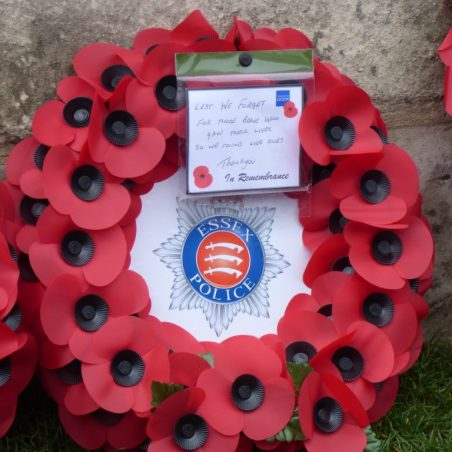 The Essex Police wreath. | Phil Coley