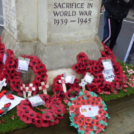 Wreaths on North side of War Memorial.   Phil Coley