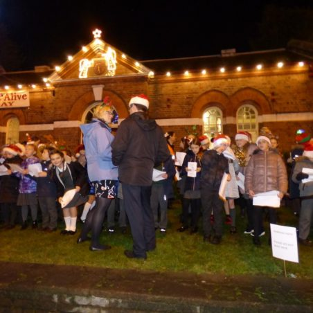 Benfleet School Choir and tree lit | Phil Coley