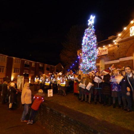 Choirs and tree lit | Phil Coley