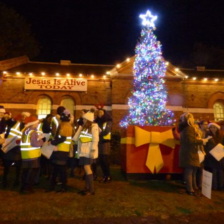 Kents Hill School Choir and tree lit | Phil Coley