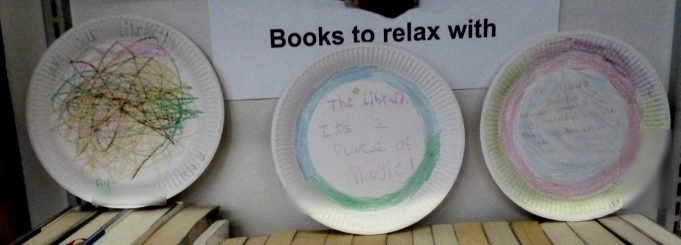 Plates of support of keeping Benfleet Library open.