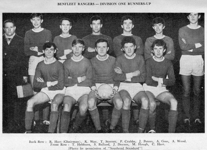 Benfleet Rangers, Division One Runners-up | John Peters / S-O-S Youth Football League Handbook Season 1964-65