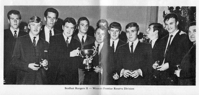Benfleet Rangers II, winners of the Premier Reserve Division | John Peters / Southend and District Football League Handbook Season 1968-69