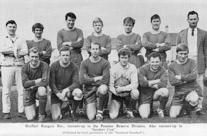 Benfleet Rangers Res. Runners-up in the Premier Reserve Division | John Peters  / Southend and District Football League Handbook Season 1967-68