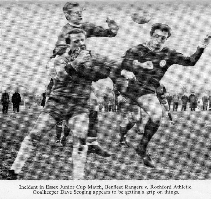 Benfleet Rangers v Rochford Athletic in Essex Junior Cup match | John Peters / Southend and District Football League Handbook Season 1968-69
