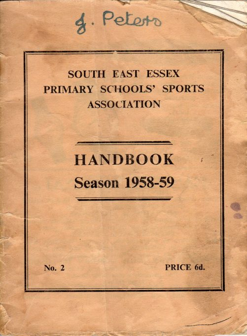 South Benfleet County Junior School XI, 1958/59