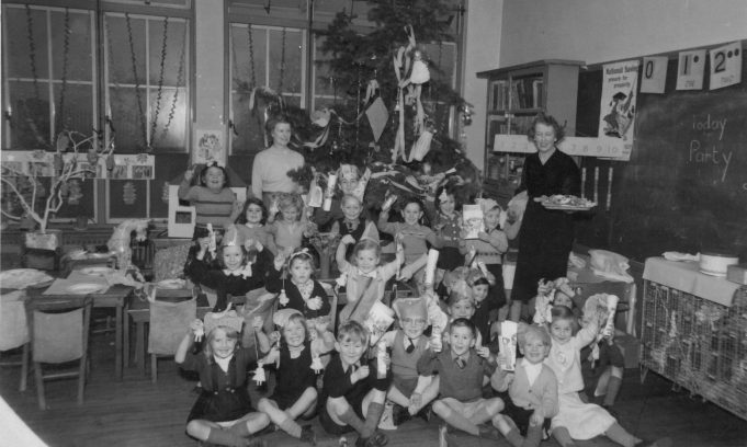 Photo 1. South Benfleet Infants School Christmas party c. 1952-53 | John Peters