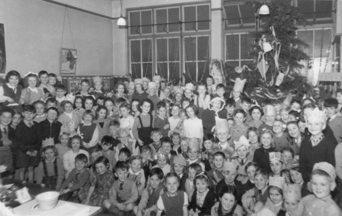 Photo 2. South Benfleet Infants School Christmas party c. 1952-53 | John Peters