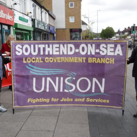 Unison Banner - Representatives of Unison also joined the march in support of library staff. | Phil Coley