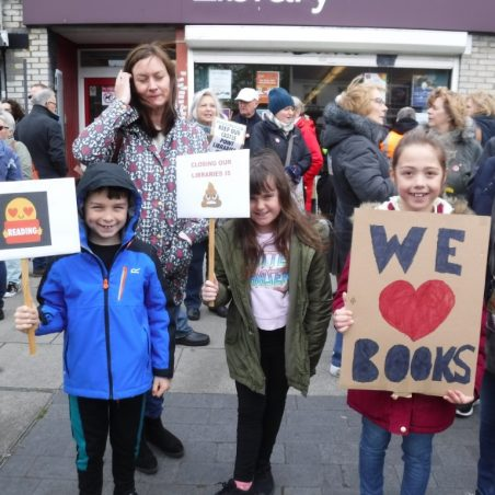 More young supporters of libraries | Phil Coley