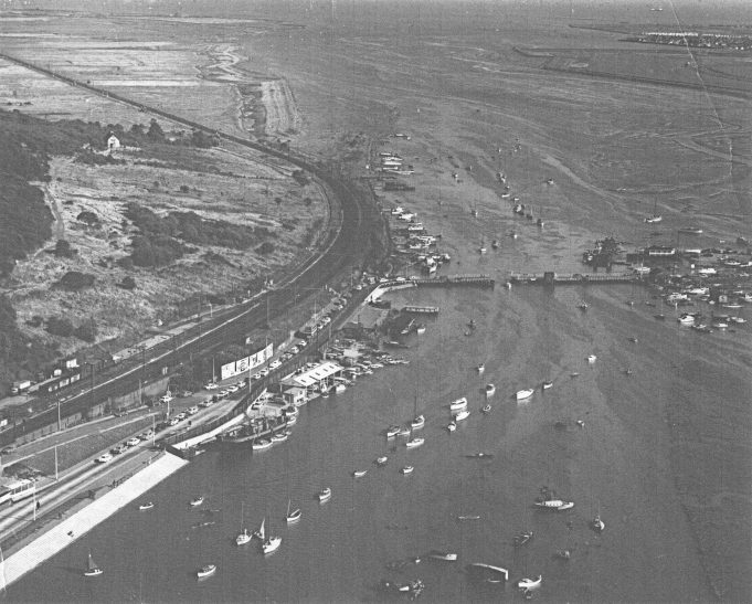 Benfleet Creek showing the Colvin bridge and Benfleet Yacht Club | Doug Wilson Collection