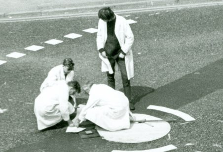 World First Mini-roundabout being built by Frank Blackmore