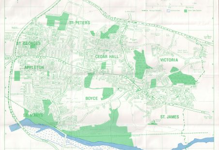 """4"""" to the mile - street plan of Castle Point, Benfleet showing Electoral Wards"""