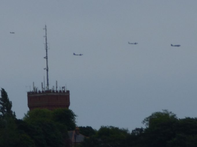 Dakotas passing in distance from South Benfleet Water Tower | Phil Coley
