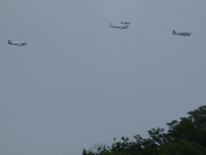 Dakotas passing over Canvey as seen from South Benfleet   Phil Coley
