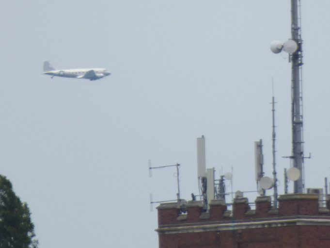Dakota passing in distance with South Benfleet Water Tower in foreground   Phil Coley