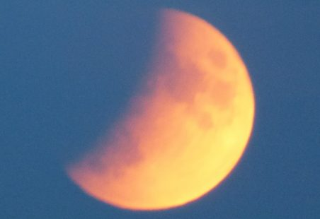 Partial Eclipse of the moon as seen from Benfleet