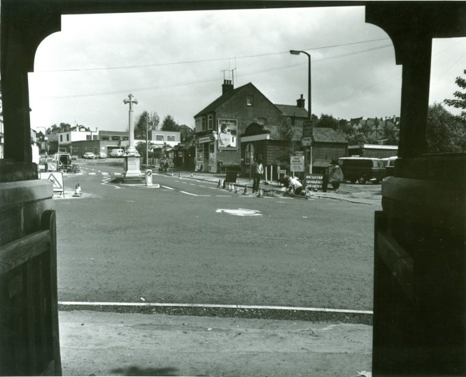 Mini-roundabout on the 3rd July 1974 | CPDC