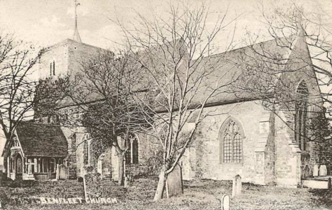 St Marys Church in 1906 showing the wind vane.