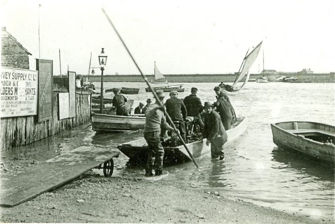 Benfleet - Canvey ferry and advert for Canvey Supply Co. Ltd. | Yvette Layzell Collection