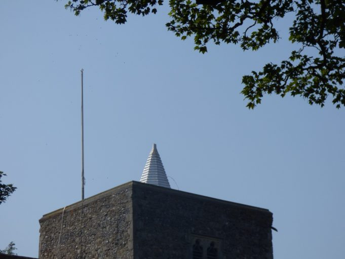 St Marys Church on 27th August 2019. Wind vane is missing. | Phil Coley