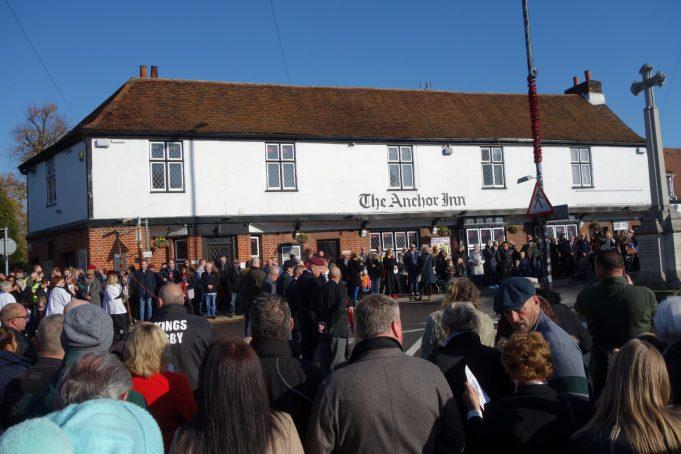Crowds assembled at Benfleet War Memorial | Phil Coley