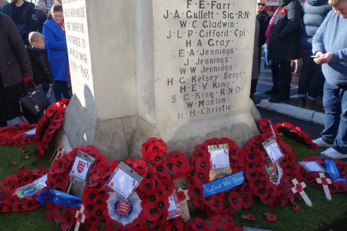 Wreaths at Benfleet War Memorial | Phil Coley