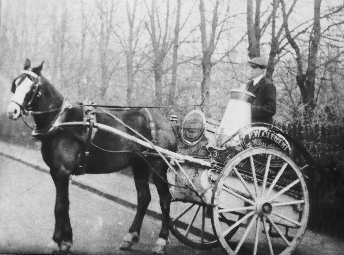 Herbert Read in his milk delivery cart | Susan Ryall