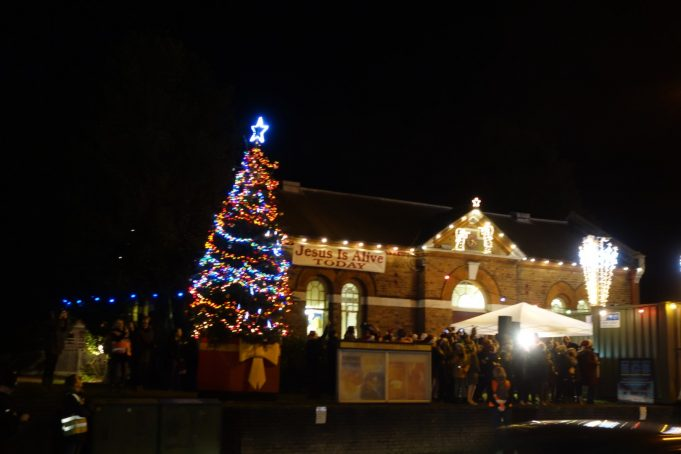 The Benfleet Christmas tree lit up. | Phil Coley