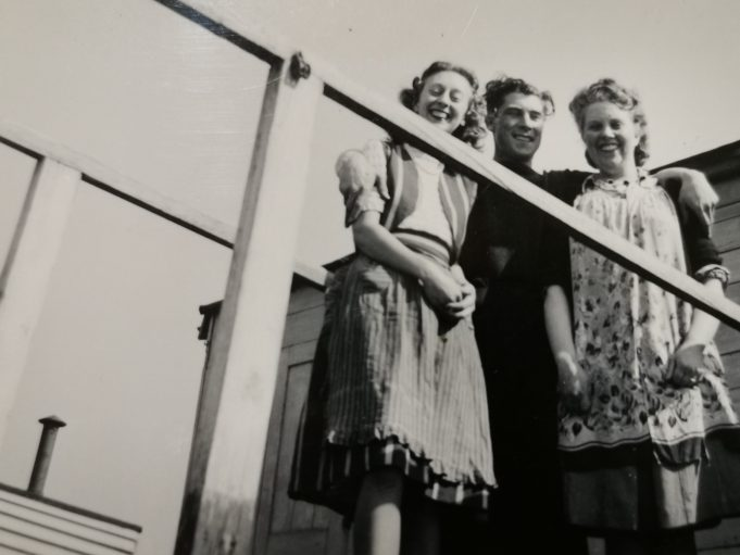 My cousin Patricia White, my Dad Reginald Hutchings and my Mum Norah. | Terry Hutchings