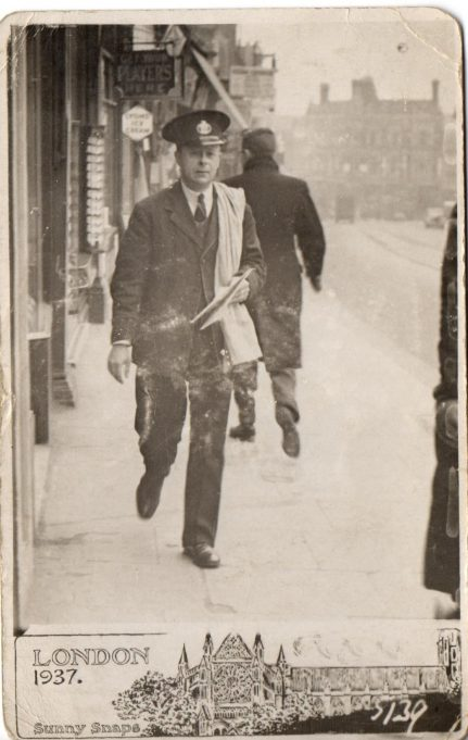 A.E. Wray as postman.