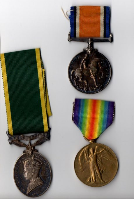 His medals.
