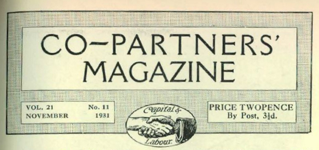 Page heading from the Co-partner's magazine | The National Gas Archive